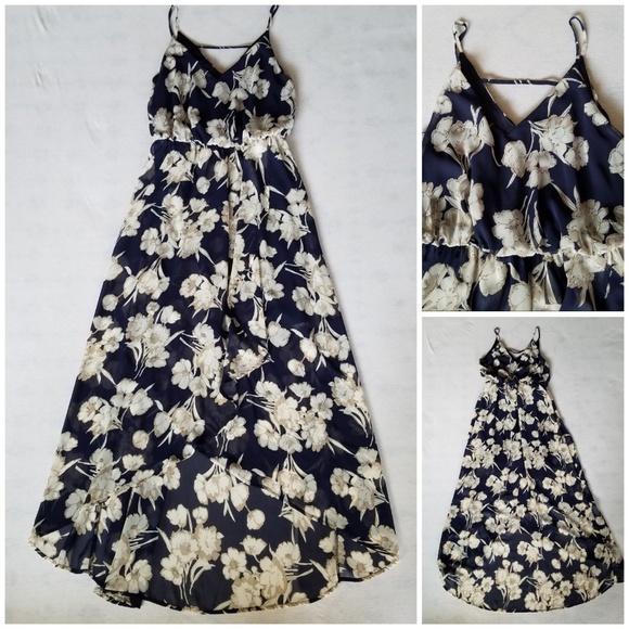 b7b6435ad5 Sienna Sky high low maxi dress strappy chiffon M. M 5b4a6a33c9bf50461a876aa8